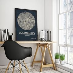 LOS ANGELES California City Map Los Angeles by ArchTravel on Etsy