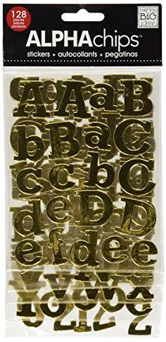 me & my BIG ideas Alpha Chips Designer Chipboard Letter S…