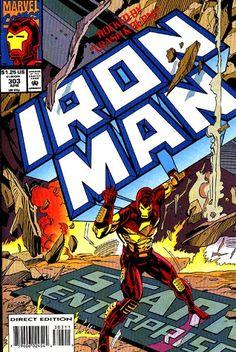 Iron Man # 303 by Kevin Hopgood & Steve Mitchell