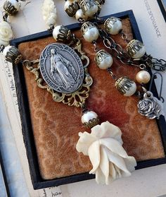 Victorian Assemblage Religious Necklace by RusticGypsyCreations, $168.00