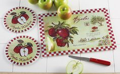 @Kerry Garland ~ everything in this store is $14.99 or less!  This reminded me of your kitchen.   Vintage Country Apple Kitchen Cutting Board Set