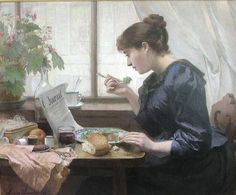 Women Reading.   I think this is me in a previous life.