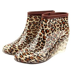 Dear Time Women Wedge Mid Heel Rain Shoes US 9 -- Read more reviews of the product by visiting the link on the image.