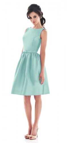 Blue Simple Bateau Neck Short Bridesmaid Dress G133