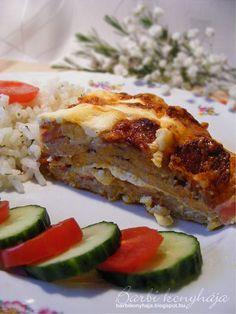 Barbi konyhája: Rakott sült karaj Meatloaf, Lasagna, French Toast, Bacon, Breakfast, Ethnic Recipes, Health, Food, Pea Soup