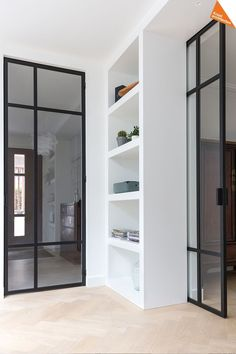 sliding door within the wall (use felt, not wheels for bottom)