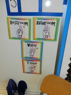 """Communicate with you students through sign language. This will prevent them from yelling out and asking """"can I go to the bathroom?"""" and """"can I get a drink of water?"""" The hand signal doesn't interrupt the class! :)"""