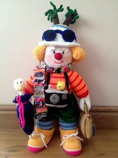 Pattern by Jean Greenhowe :  the red nose gang Godfrey Gadabout