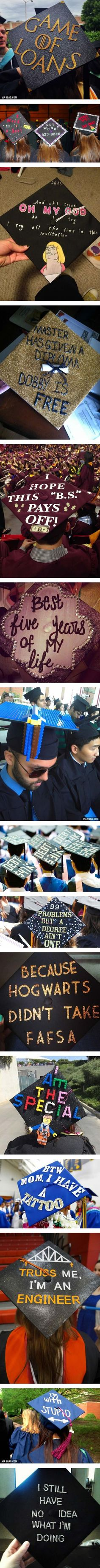 15 Hilarious Graduation Caps That Show Exactly The Status Of Students