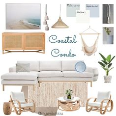 My KInd of Bliss Mood Board- Coastal Condo/ Coastal Style/ Boho Luxe