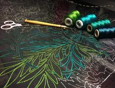 The 1st stage of embroidery has begun! It's going to be be a bright one, lots of shades of green and teal silk threads for the Willow. I'm going with bright modern colours to bring this William Morris print design to life. . . . . . #tambour #luneville #lunevilleembroidery #broderie #embroidery #chainstitch #stitch #embroideryart #embroiderydesign #embroideryart #embroideryinstaguild #embroideryartist #embroiderylove #stitchersofinstagram #couture #coutureembroidery #embelishment…