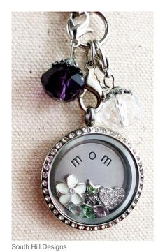 it is from South Hill Designs . Since I can't wear jewelry, a key chain similar to this would be great! Locket Design, Jewelry Design, Jewelry Ideas, Gifts For Your Mom, Great Gifts, South Hill Designs, Origami Owl Jewelry, Floating Charms, Picture Design