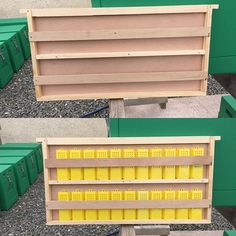 """""""#bees #beekeeping #queenrearing This is a queen banking system I use. These…"""