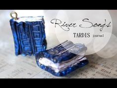 DIY: River Song's TARDIS Journal Doctor Who {Stop Motion Tutorial} Polymer Clay Charm - YouTube