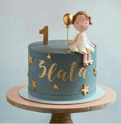 of the Best Homemade Birthday Cake Ideas - sweets - Cake Design Homemade Birthday Cakes, Cool Birthday Cakes, Birthday Cupcakes, Homemade Cakes, Birthday Ideas, Birthday Design, Baby Girl Birthday Cake, Baby Girl Cakes, Fondant Cakes