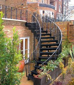 Here is design of exterior staircases ranging from traditional cast basement…