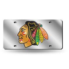 Chicago Blackhawks NHL Laser Cut License Plate Cover