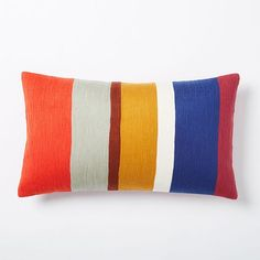 Crewel Color Bar Pillow Cover #westelm
