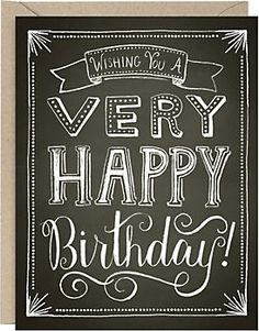 Chalkboard Happy Birthday Card