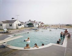 1965, la piscina del Kalmar Resort a Truro in Massachusetts