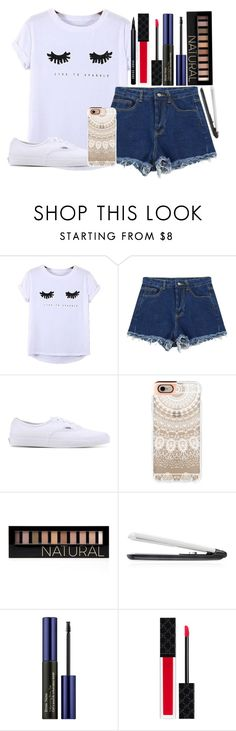 """""""LIVE TO SPARKLE"""" by itsfashioninfinity ❤ liked on Polyvore featuring Chicnova Fashion, Vans, Casetify, Forever 21, T3, Estée Lauder and Gucci"""