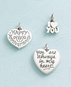 "Charms that say ""I Love You."" #jamesavery"