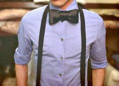 bow tie and suspenders… i automatically think. Homecoming Outfits For Guys, Homecoming Ideas, Doctor Who, Look Fashion, Mens Fashion, Formal Fashion, Bowtie And Suspenders, Black Bow Tie, Sharp Dressed Man