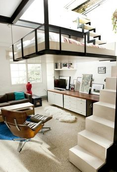 Lofted Bed. Suspended ...