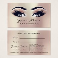 Makeup Eyes Lashes Blush Coral Appointment Card - stylist business cards cyo personalize businesscard diy