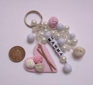 Love Knitting keyring or bagcharm