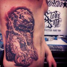"""stevesototattoo's photo: """"Did this piece last year, was a fun tattoo. steve soto tattoo goodfellastattoo"""
