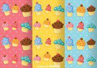 Cupcake Girly Pattern Vectors