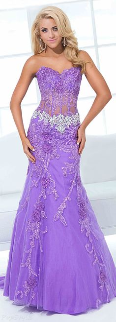 Tony Bowls Strapless Mermaid Dress