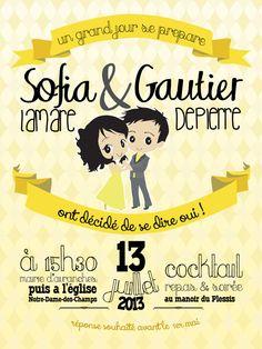faire part mariage design, faire part original, save the date, wedding invitation,