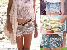 Shorts customizados para o Verão, Carnaval...