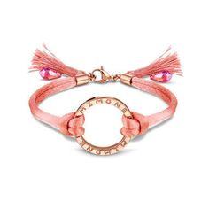 mi moneda - 07-52-19-primavera bracelet peach with stainless steel, rosegold plated