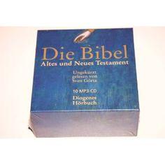 German Audio Bible on 10 MP3-CD / Die Bibel Altes und Neues Testament / Ungekurzt gelesen von Sven Gortz / Diogenes Horbuch  $179.99