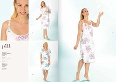 90570779dd1 Pill White   Pink Floral Nightdress 424 - UK Size 10 Nightdress - 11 F in  Clothing