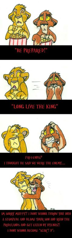 Mufasa and Scar watch their future unfold.