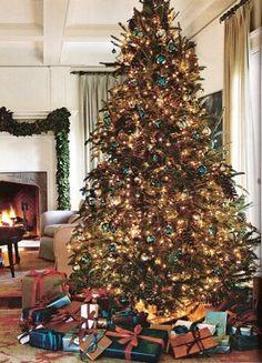 Teal ornaments used on Christmas Tree