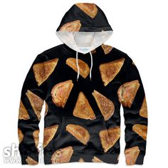 Grilled Cheeseis printed over the entire hoodie (front and back) using new sublimation printing technology which allows us to achieve photorealistic quality pr
