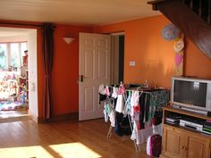 Living Room - Before Big Kitchen, Old Houses, Entryway, Living Room, Furniture, Home Decor, Entrance, Decoration Home, Room Decor