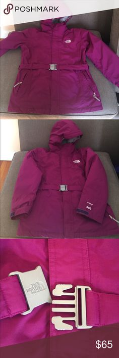 The NorthFace Avent 550 XL (18) Insulated purple The NorthFace Coat. In great physical condition. See last pic for lint in adhesive attachments. Stored in basement so minor smell, washed several times, dry cleaning should take care of it. The North Face Jackets & Coats Puffers