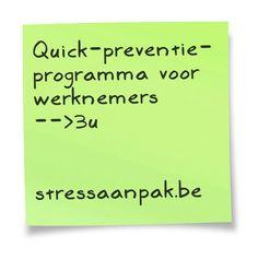 StressAanpak geeft vorming in organisaties rond burn-out & bore-out.  www.stressaanpak.be