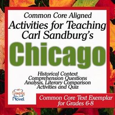 Chicago by Carl Sandburg Activity Pack and Quiz