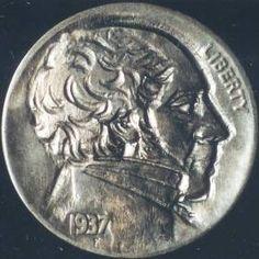ORAZIO ANGELO - PRESIDENT JOHN ADAMS - 1937p BUFFALO PROFILE Political Beliefs, Hobo Nickel, John Adams, British Soldier, Buffalo, Presidents, Coins, Auction, Profile