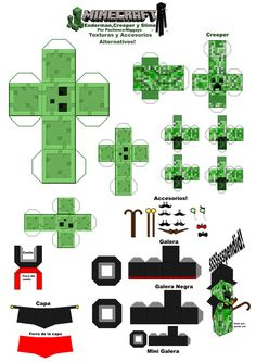 Minecraft Papercraft Texturas y Accesorios Alterno by Niggayo on DeviantArt