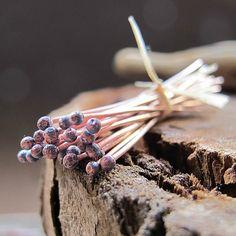 22g Organic Copper Ball Headpins setHandmade wire by NadinArtGlass, $5.25