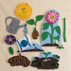 Preschool Garden, Preschool Science, Kindergarten Activities, Preschool Activities, When To Plant Seeds, Plant Lessons, Life Cycle Craft, Flannel Board Stories, Plant Crafts