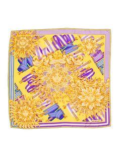 Hermes Les Sangles De Phoebus Silk Scarf